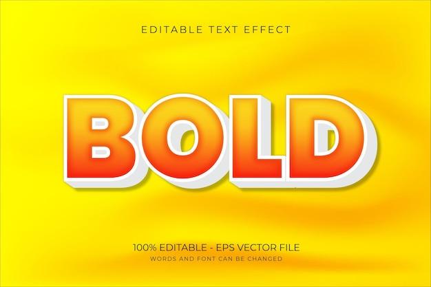 Pogrubiony edytowalny efekt tekstowy premium wektor