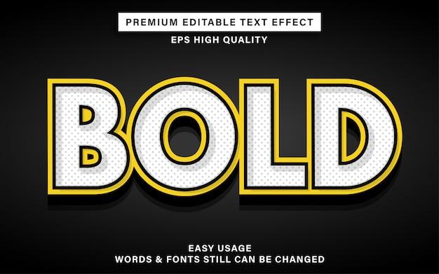 Pogrubiony edytowalny efekt tekstowy