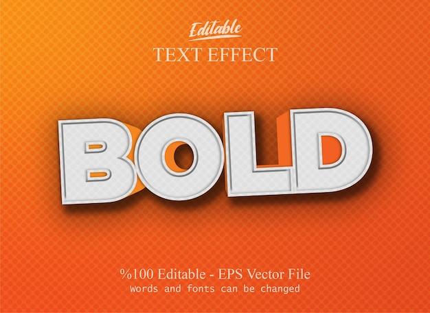 Pogrubiony edytowalny wektor efektu tekstu ep