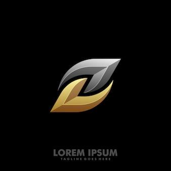 Pogrubiony list z logo wektor
