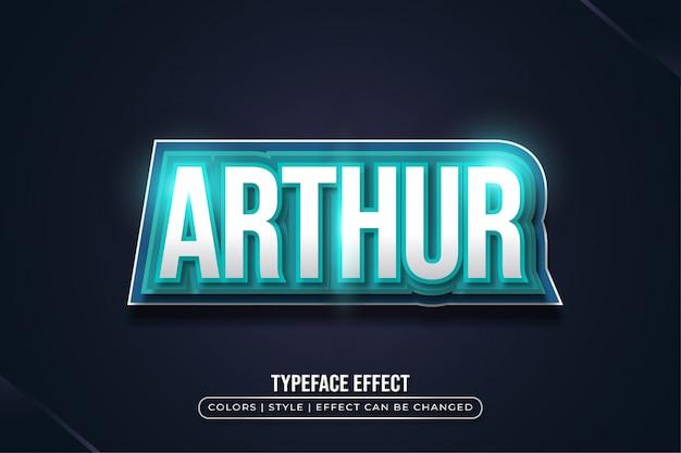 Pogrubiony niebieski efekt tekstowy