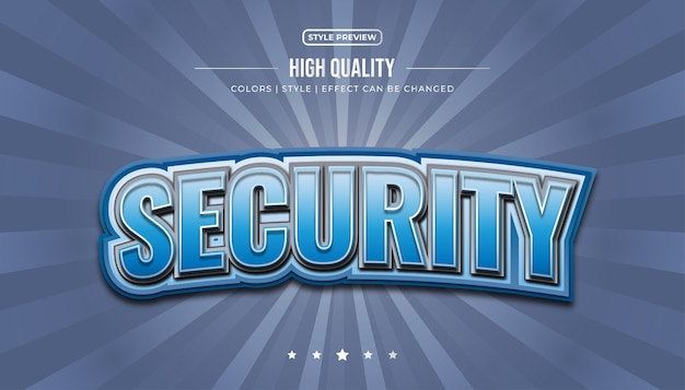 Pogrubiony niebieski styl tekstu z efektami 3d i zakrzywionymi dla e-sportowej tożsamości lub nazwy logo
