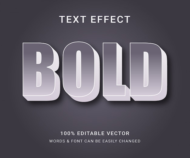 Pogrubiony, pełny edytowalny efekt tekstowy