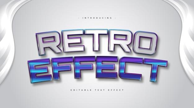 Pogrubiony styl tekstu retro z wytłoczonym efektem 3d