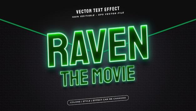 Pogrubiony styl tekstu z efektem świecącego zielonego neonu