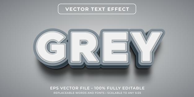 Pogrubiony szary edytowalny efekt tekstowy