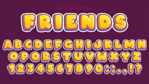 Pogrubiony żółty bąbelek typografia