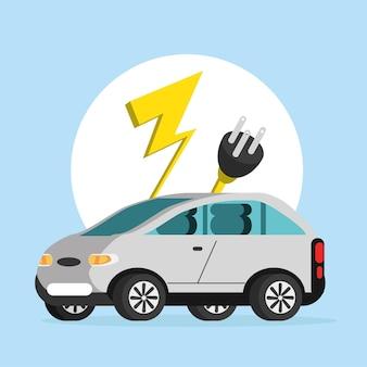 Pojazd elektryczny z kablem