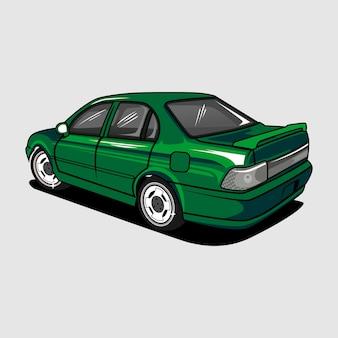 Pojazd samochodowy zielony samochód