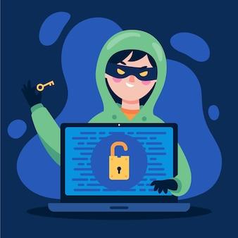 Pojęcie Działalności Hakera Darmowych Wektorów