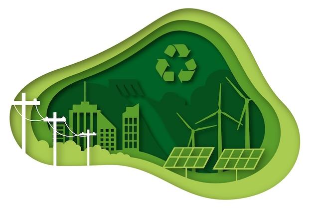Pojęcie ekologii w stylu papieru
