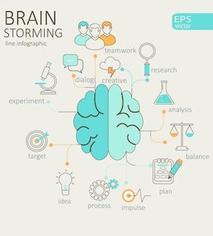 Pojęcie lewego i prawego mózgu.