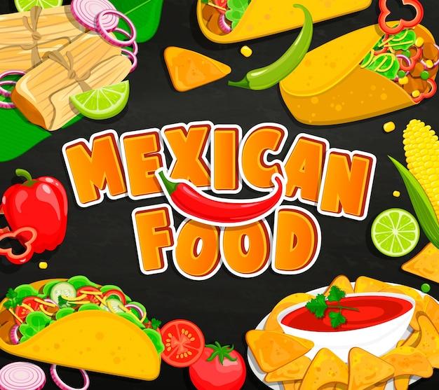 Pojęcie meksykańskimi żywności.
