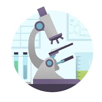 Pojęcie nauki z mikroskopem