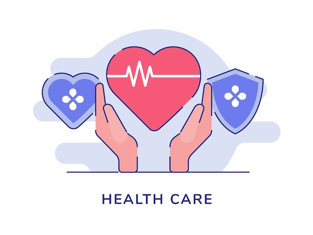 Pojęcie opieki zdrowotnej na białym tle