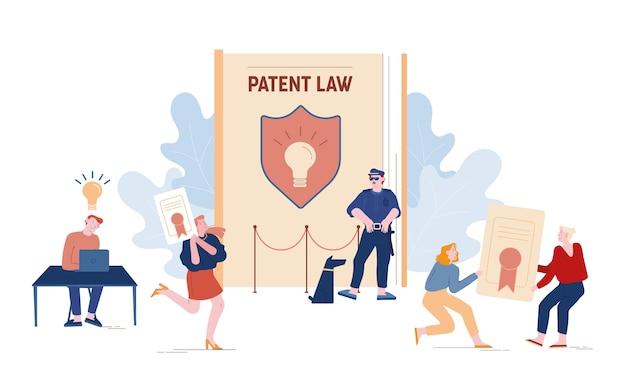 Pojęcie prawa patentowego na białym tle
