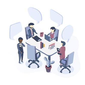 Pojęcie spotkania biznesowego.