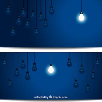 Pojedyncze oświetlony żarówki