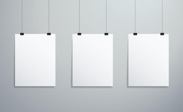 Pojedyncze ramki do zdjęć wiszące na ścianie