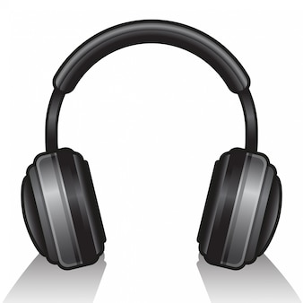 Pojedyncze słuchawki na białym tle