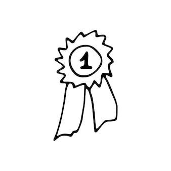 Pojedynczy element sukcesu w zestawie biznesowym doodle. ręcznie rysowane ilustracji wektorowych dla kart, plakatów, naklejek i profesjonalnego projektowania.