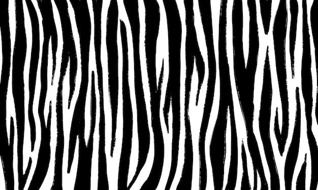 Pojedynczy wzór skóry zebry w stylu rysunku odręcznego