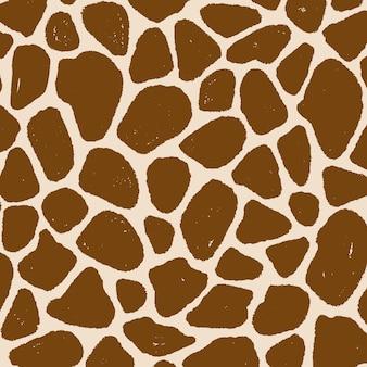 Pojedynczy wzór skóry żyrafy w stylu vintage