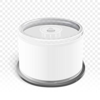 Pojemnik na cd z pustą etykietą