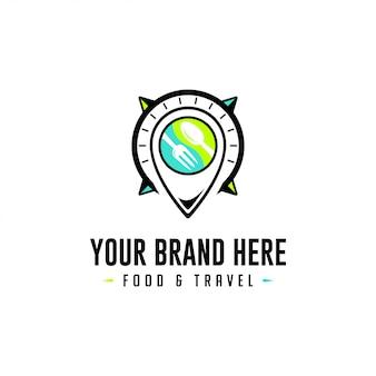 Pojemnik na logo food and travel