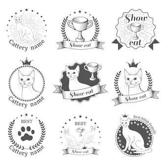 Pokaż emblematy kota.