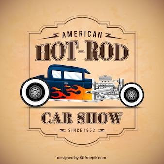 Pokaz samochodów plakat