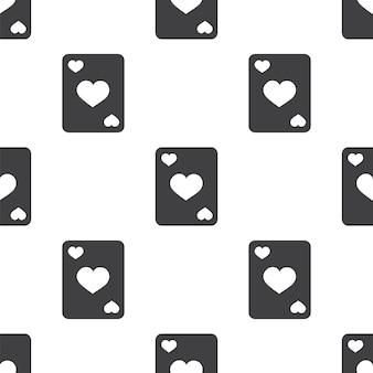 Poker, wektor wzór bez szwu, edytowalny może być używany do tła stron internetowych, wypełnienia deseniem