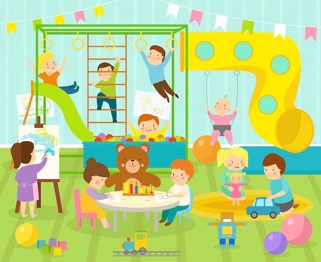 Pokój dziecięcy ilustracji wektorowych.