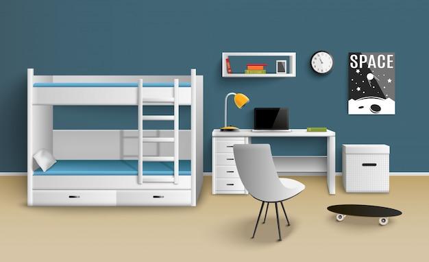 Pokój teen boy realistyczny