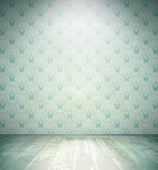 Pokój w wieku z tapetą z motywem kwiatowym