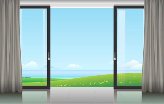Pokój z przesuwanymi drzwiami