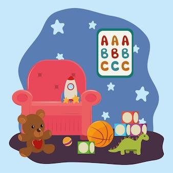 Pokój z zabawkami dla dzieci