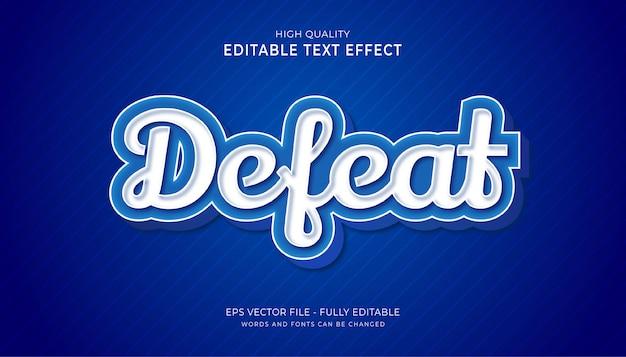Pokonaj efekt tekstowy, edytowalny efekt stylu tekstu gry.