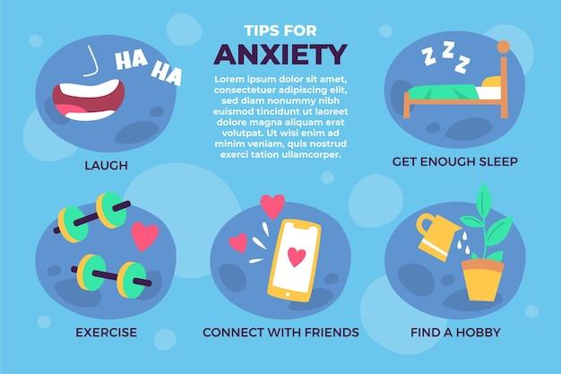 Pokonaj infografikę wskazówek dotyczących niepokoju