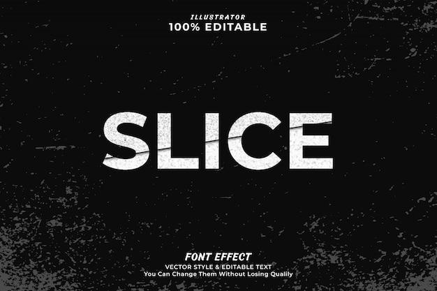 Pokrój edytowalny efekt tekstowy