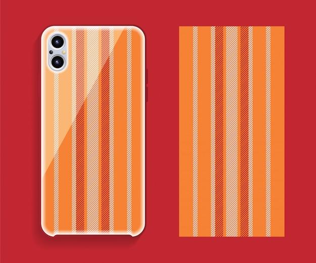 Pokrowiec na smartfona z kraciastym wzorem