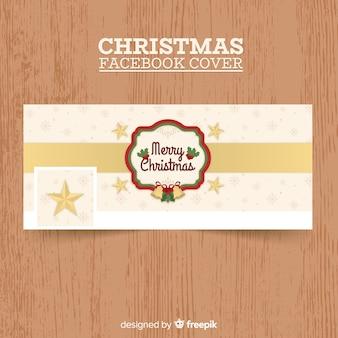 Pokrywa facebookowa z płatkami śniegu