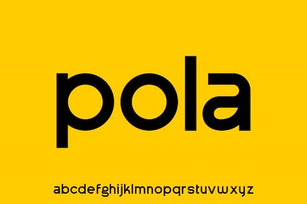 Pola, nowoczesna geometryczna okrągła czcionka