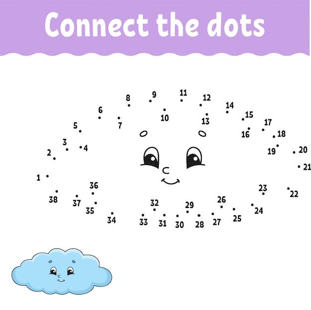 Połącz chmurę arkusza kropek