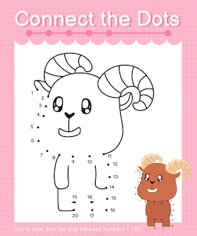 Połącz kropki ibex gry kropka-kropki dla dzieci liczących numer 20