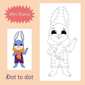 Połącz kropki z uroczym króliczkiem