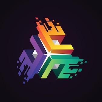 Połącz logo danych cyfrowych