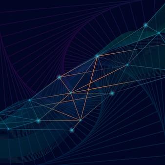 Połączenia niebieskie tło