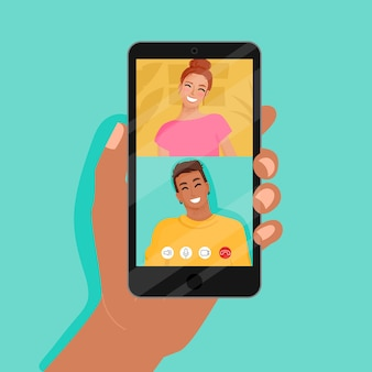 Połączenia wideo znajomych na smartfonie