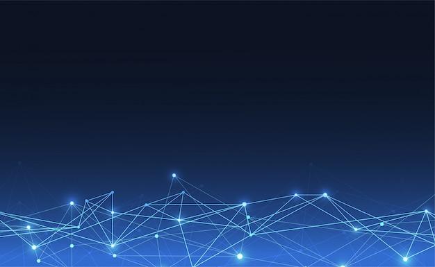 Połączenie Internetowe Abstrakcyjne Poczucie Nauki Premium Wektorów